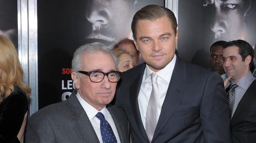 Martin Scorsese, left, and Leonardo DiCaprio will work together on a new project for Hulu.