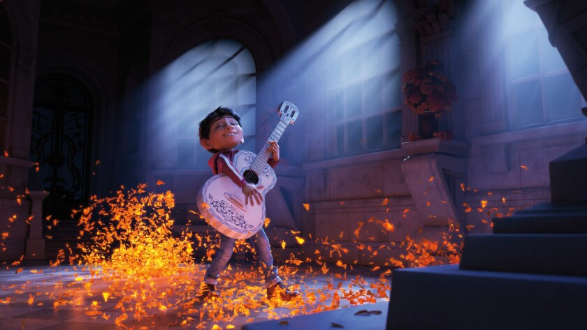 """Miguel (voiced by Anthony Gonzalez) in the animated film """"Coco."""""""