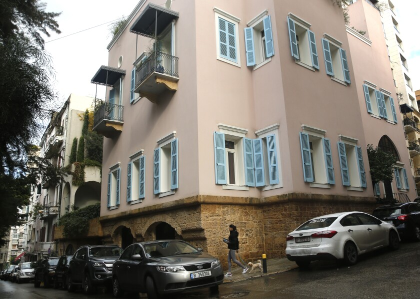 The house of ex-Nissan chief Carlos Ghosn in Beirut, Lebanon.