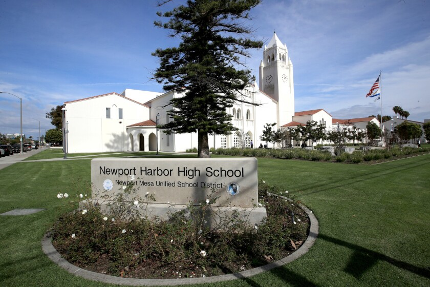 Fliers, some with swastikas, were posted over the weekend at Newport Harbor High School.