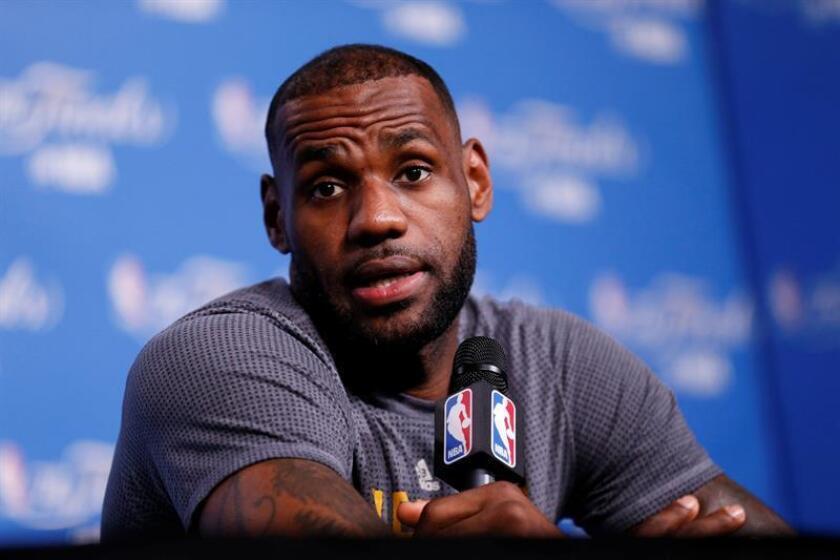 El jugador de Cleveland Cavaliers, LeBron James. EFE/Archivo