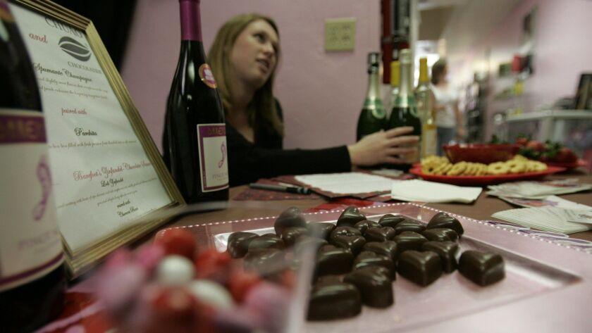 Escondido, CA_2/13/2010_Chuao Chocolates chocolatier MICHAEL ANTONORSI(cq) was present at the For t