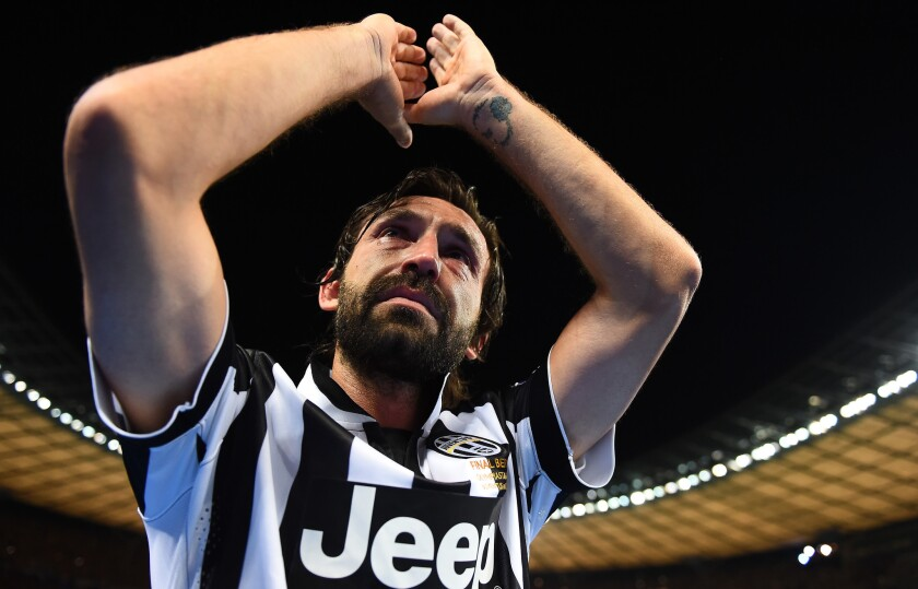Andrea Pirlo, mediocampista italiano.