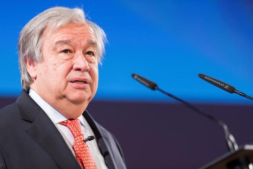 """El secretario general de la ONU, António Guterres, consideró hoy """"inaceptable"""" el uso de """"fuerza letal"""" en el marco de la crisis en Nicaragua y reclamó al Gobierno que garantice la protección de los ciudadanos. EFE/Archivo"""