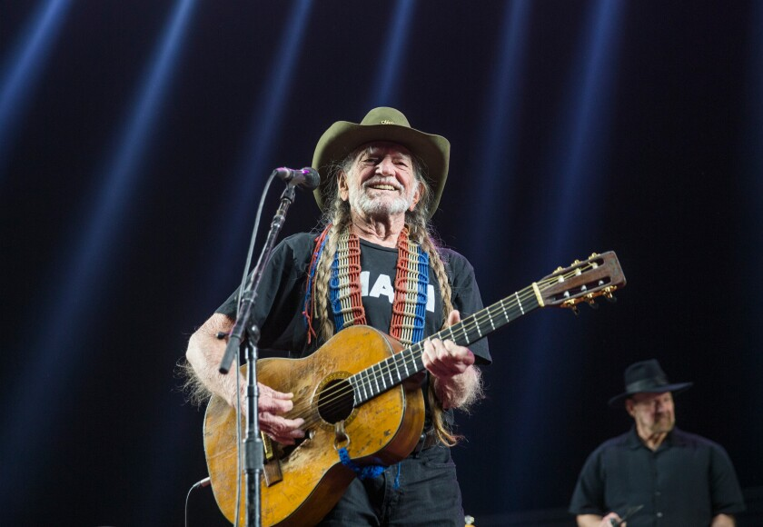 Country music legend Willie Nelson (who turned 84 today) performs as Willie Nelson and Family on the Palomino Stage during the second day of the Stagecoach country music festival at the Empire Polo Fields in Indio, Calif., on April 29, 2017.