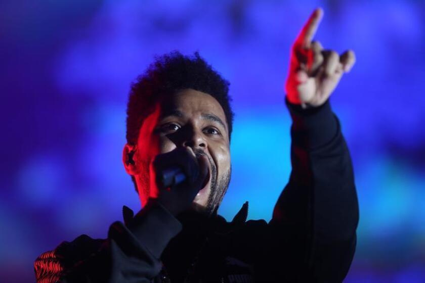 El cantante canadiense The Weeknd durante un concierto. EFE/Archivo