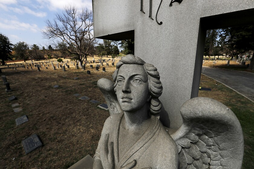 LONG BEACH, CALIF. - JUNE 26, 2019. Sunnyside Cemetery along Willow Street in Long Beach has announc
