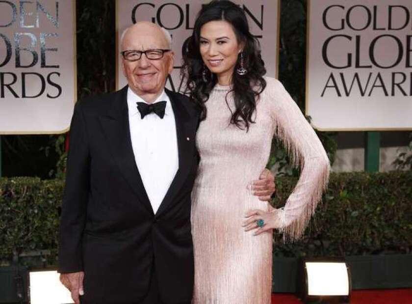Rupert Murdoch and Wendi Deng Murdoch.