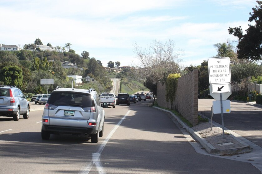 Nearby residents would like to see the sound wall along La Jolla Parkway extended tenfold to reduce traffic-related noise.