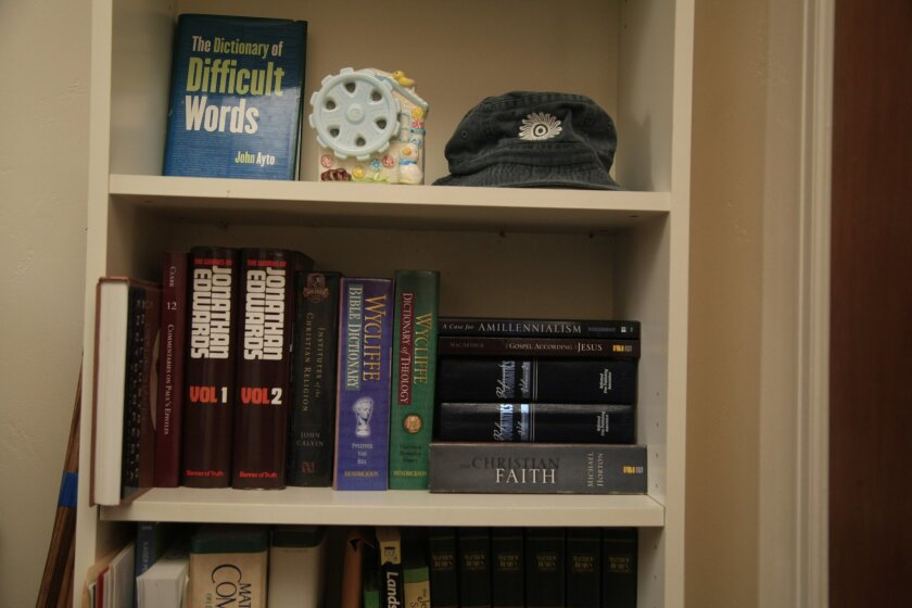 While in prison, Uriah Courtney became an avid reader and recommitted himself to God. He read several theology books from a variety of authors. David Brooks / U-T San Diego