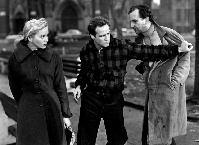 "Eva Marie Saint and Marlon Brando in ""On the Waterfront"""