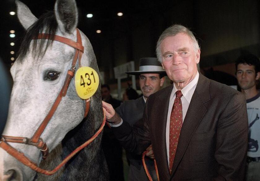 Fotografía de archivo del actor estadounidense Charlton Heston. EFE/Archivo
