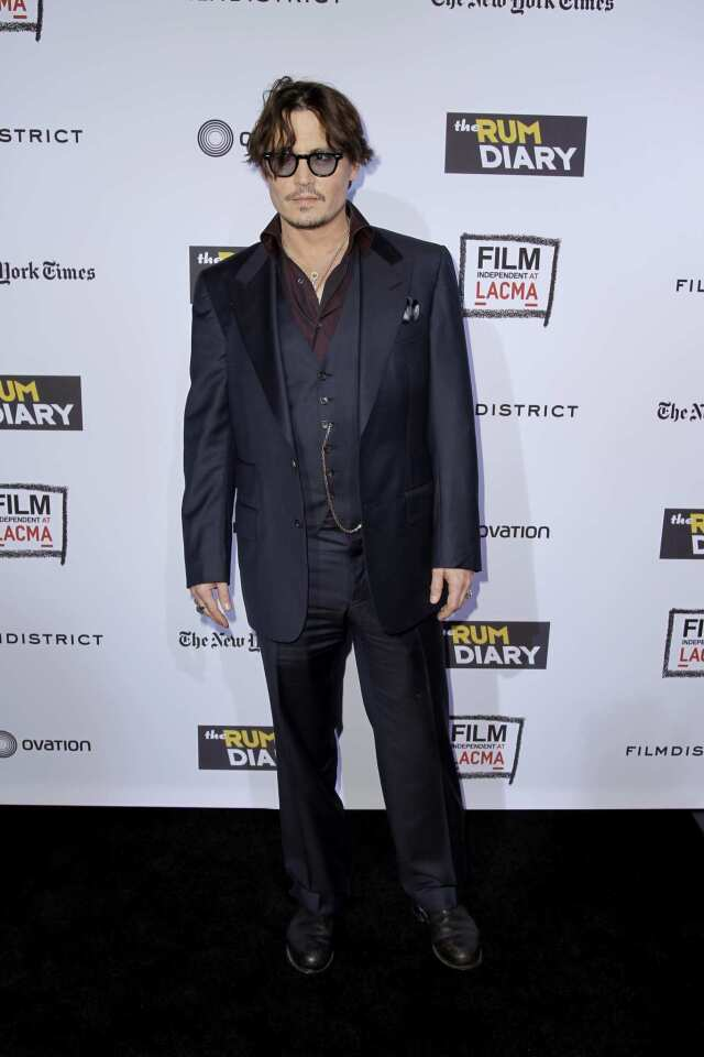 'The Rum Diary' premiere
