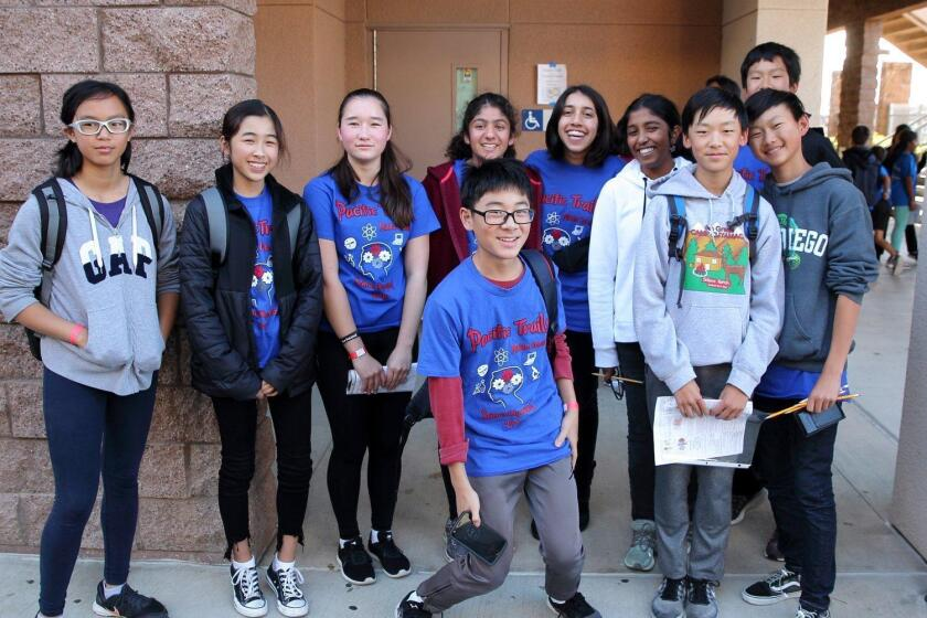 The Anatomy team from Pacific Trails Middle School