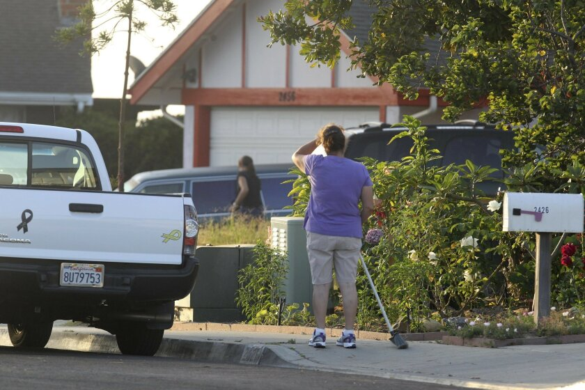 San Diego police investigators were still on the scene of a triple homicide early Monday Morning, August 20. A woman and her two children were found dead and a man injured Sunday afternoon in the Paradise Hills home on Luther street. A neighbor watched as investigators looked inside a vehicle on the driveway of the house.