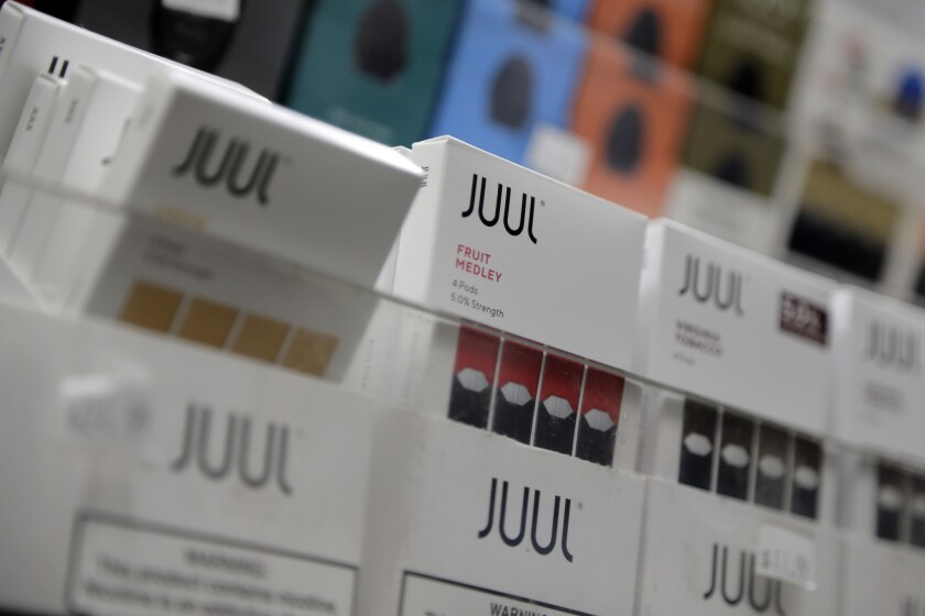 Sales of Juul products using flavors other than traditional tobacco would be banned under a proposed ordinance in L.A. County.