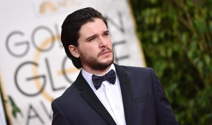 Kit Harington smolders at the Golden Globe Awards on Sunday.