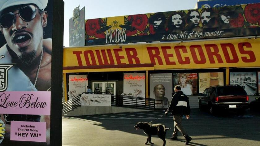 Even music icon Elton John shopped at the Tower Records store in Los Angeles, seen here in 2004, during regular business hours. (RIC FRANCIS)