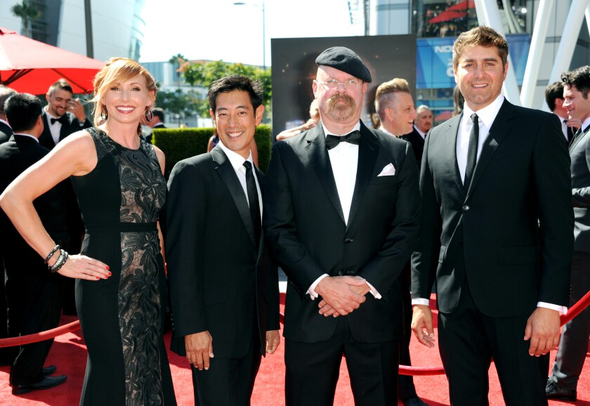 Kari Byron, Grant Imahara, Jamie Hyneman and Tory Belleci