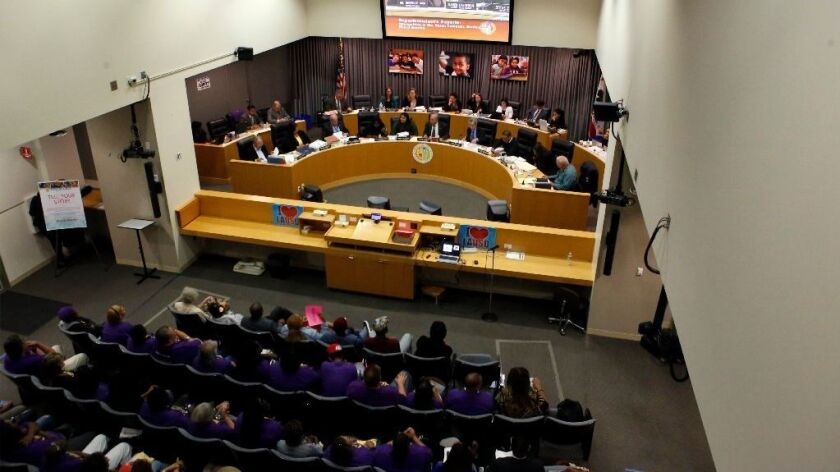 Although King's plan calls for a 6.7% increase in spending over last year, school board members have