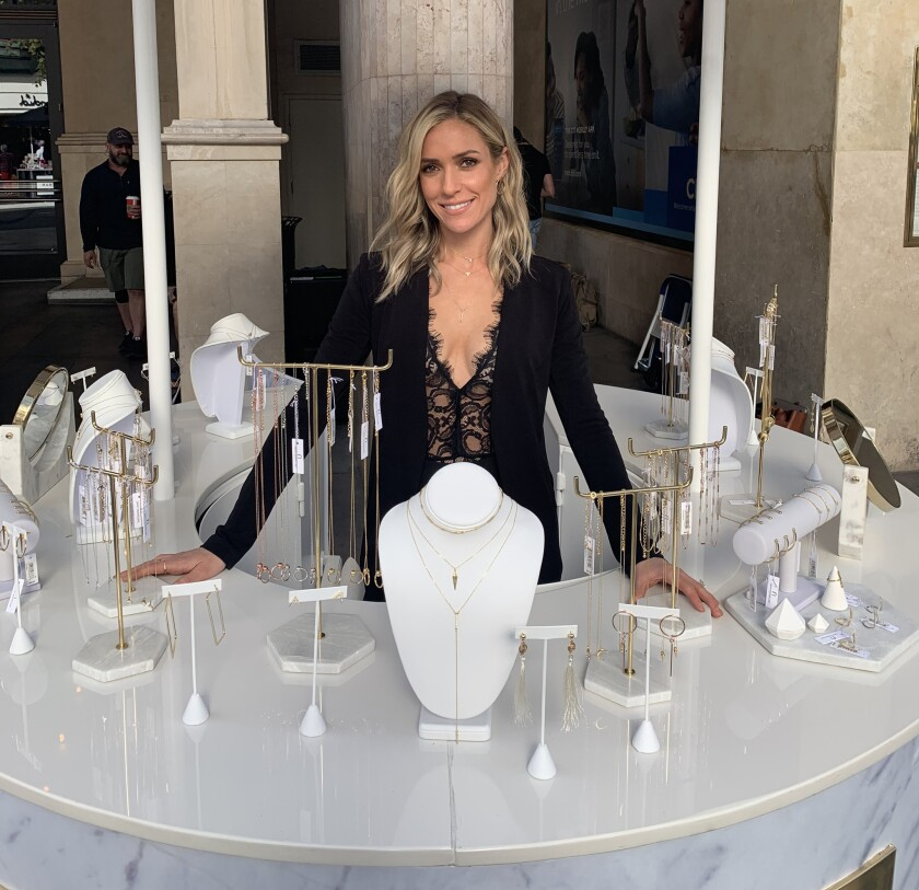 Former reality star, Kristen Cavallari, at her jewelry pop-up in The Grove; the pop-up for her Uncom