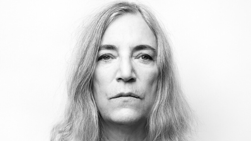 "NEW YORK, NY - NOVEMBER 22, 2014: Rocker Patti Smith's song ""Mercy Is"" created for the film, Noah, i"