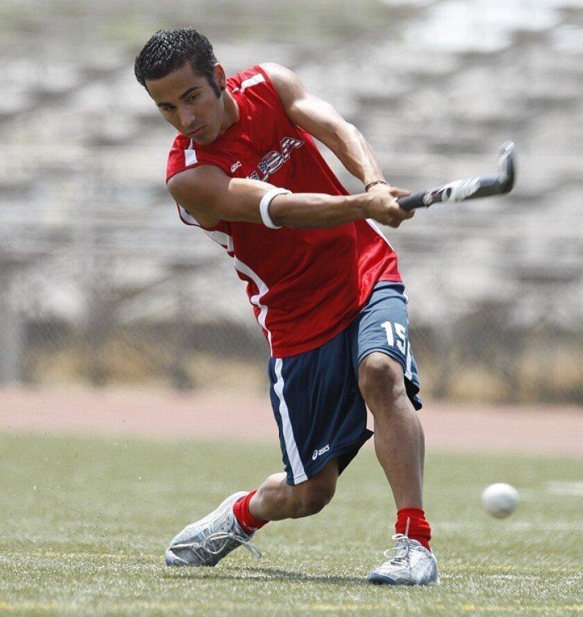 """""""It's one of the most challenging games that I've ever played because of the amount of skill that it requires,"""" Manny Martinez says of field hockey. """"You can be fast and strong, and you still won't be able to excel. It takes certain finesse to dribble and trap the ball."""""""