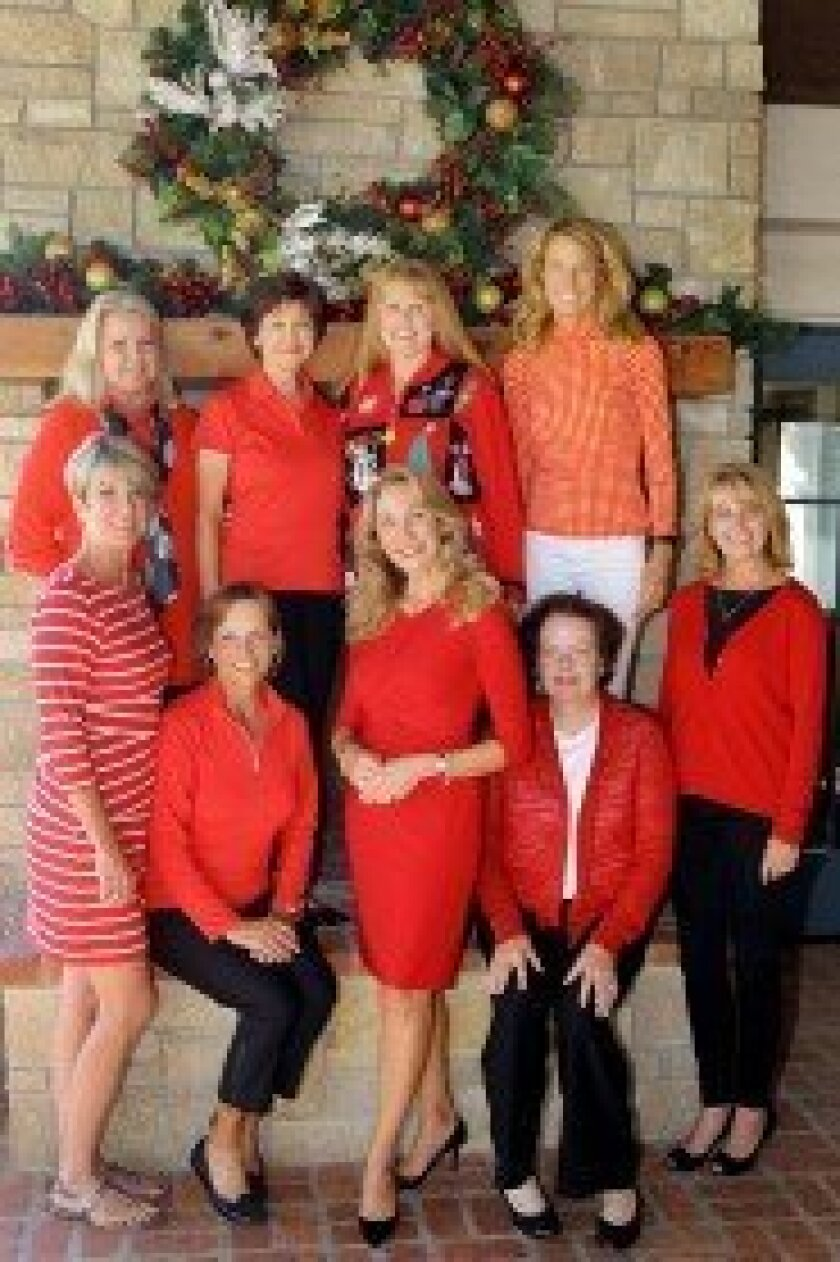 The Holiday Gift Boutique Committee: front row (L-R): Janet Lawless Christ, Deb Gustafson, Rhonda Wilson, Pam Wasserman, Susan Muha; back row: Dee Swanson, Dottie Mulholland, Kris Charton, Cathy Wessels. Photo by Jon Clark
