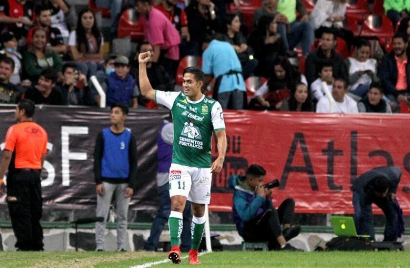 En la imagen, un registro de otra celebración del colombiano Andrés Andrade de León. EFE/Archivo