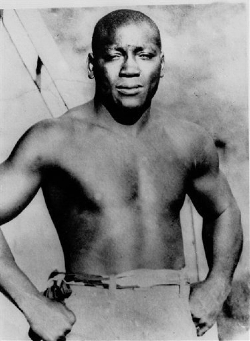 This undated file photo shows boxer Jack Johnson, who was born in Galveston, Texas.