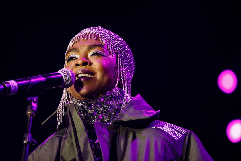 Ms. Lauryn Hill performs live during Camp Flog Gnaw music carnival at Dodger Stadium on Sunday, Nove