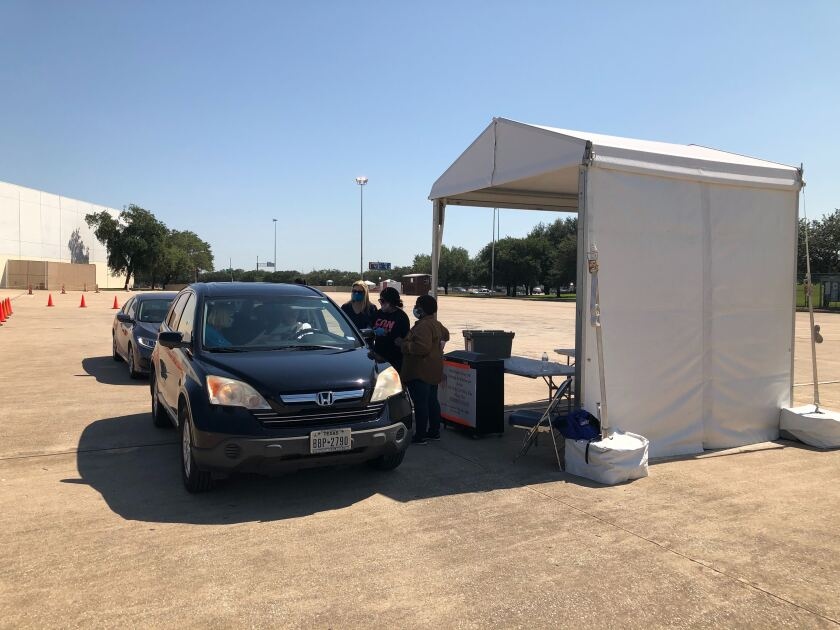 A voter drop-off site in Houston.