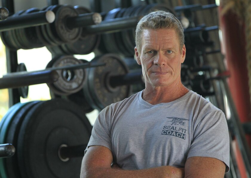 Former Navy Seal Mark Divine at the headquarters of his training business, SealFit, in Encinitas.