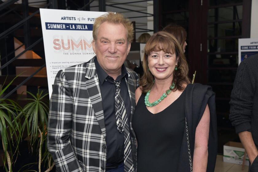 Tony award winning/La Jolla Playhouse Director Emeritus Des McAnuff, UCSD Division of Arts & Humanities Dean Cristina Della Coletta