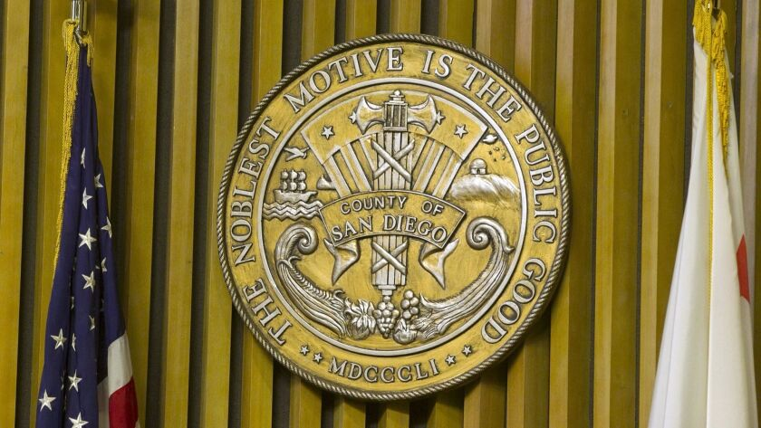 Seal of the County of San Diego.