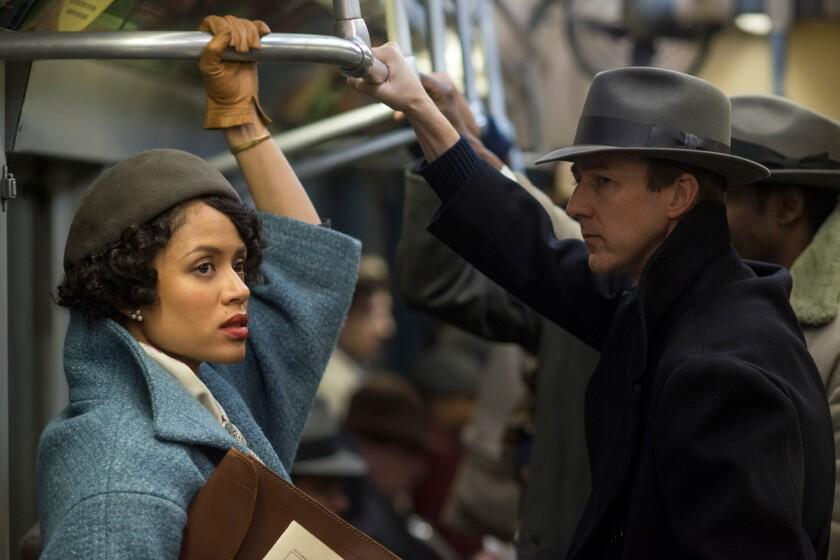 "Gugu Mbatha-Raw and Edward Norton in ""Motherless Brooklyn."""
