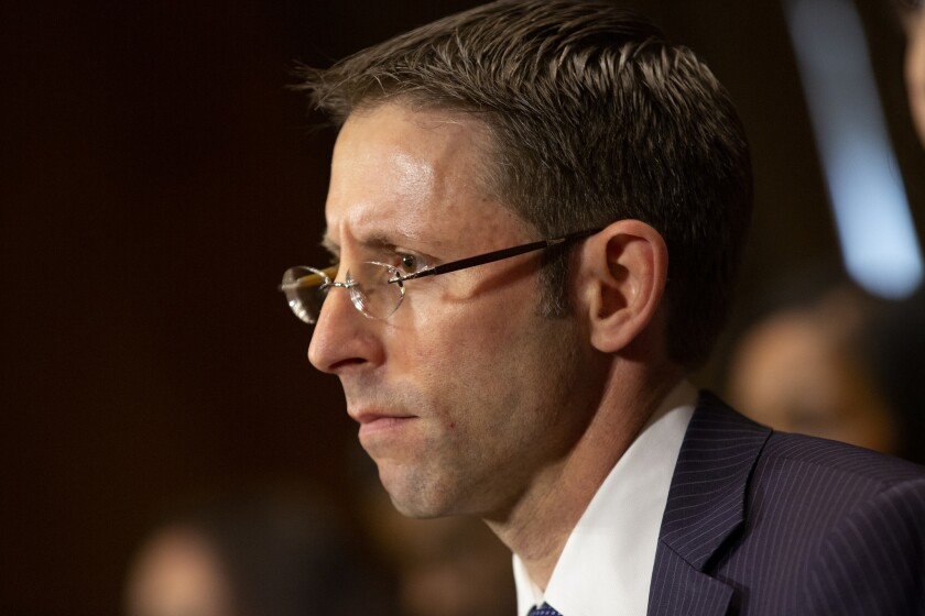 Daniel Bress appears before the Senate Judiciary Committee for his confirmation hearing to become a