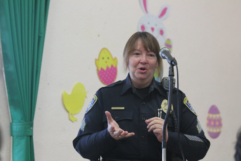 Sgt. Teresa Clark with San Diego Police's Homeless Outreach Team.
