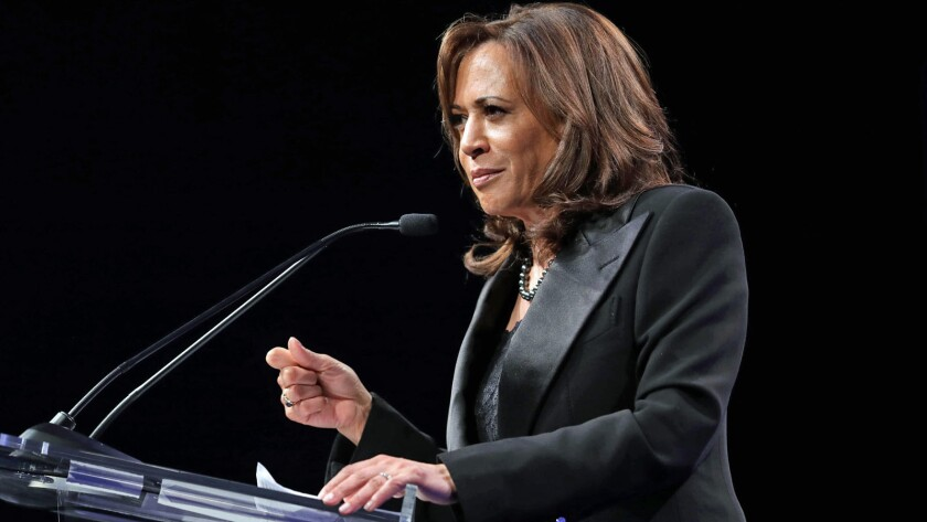 LOS ANGELES, CALIF. -- SATURDAY, MARCH 30, 2019: Kamala Harris (D-Calif.), 2020 Democratic president