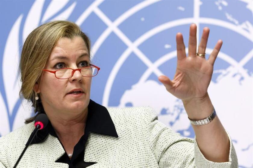 En la imagen, la Alta Comisionada Adjunta de las Naciones Unidas para los Refugiados (ACNUR), Kelly Clements. EFE/Archivo