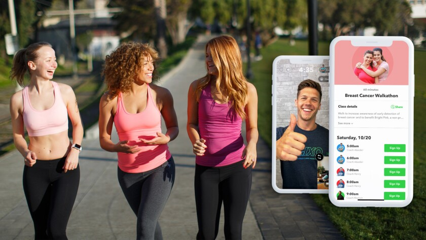 Tune in for a 12-hour walkathon - or a part of it - through the fitness app Gixo. Miles walked will