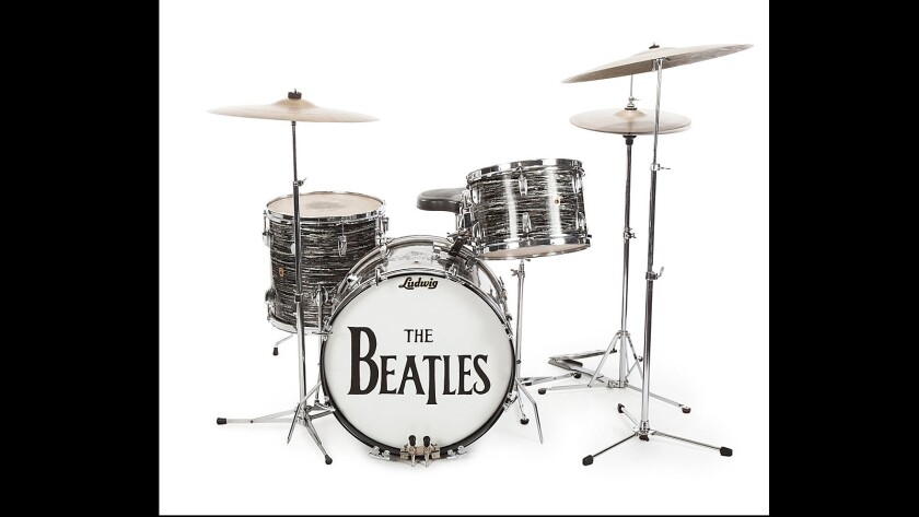 Ringo Starr's set of Ludwig drums sold at auction on Friday, Dec. 4, for $1.75 million to Indianapolis Colts owner Jim Irsay, a well-known rock music enthusiast and collector. It's part of an auction of more than 1,300 items donated by Starr and his wife, actress Barbara Bach, to raise money for their charity, the Lotus Foundation.