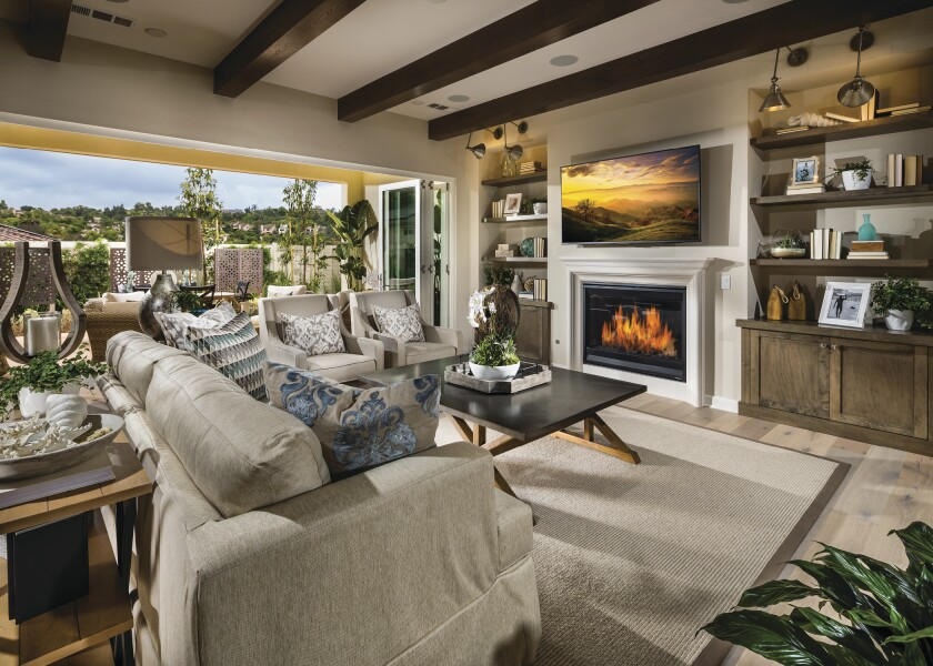 Shoppers can now buy the eight model homes at Canyon Grove — four at each collection — with upgrades inside and out that include built-ins.