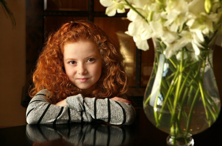 Portrait of actress Francesca Capaldi, 10, taken at the Park Hyatt Aviara hotel in Carlsbad.