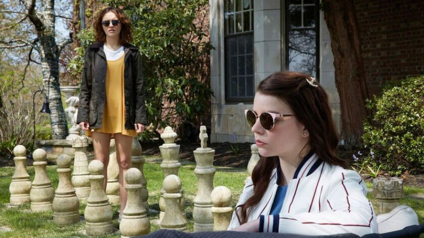 "Olivia Cooke, left, and Anya Taylor-Joy in ""Thoroughbred."""