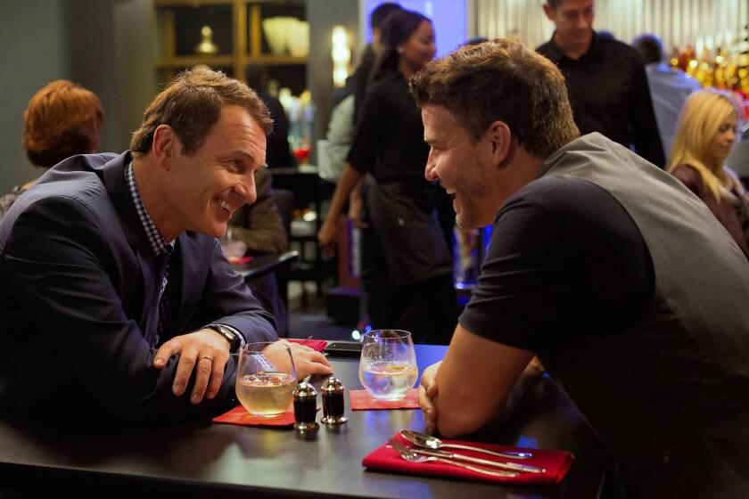 "Julian McMahon, left, and David Boreanaz star in ""Full Circle."""