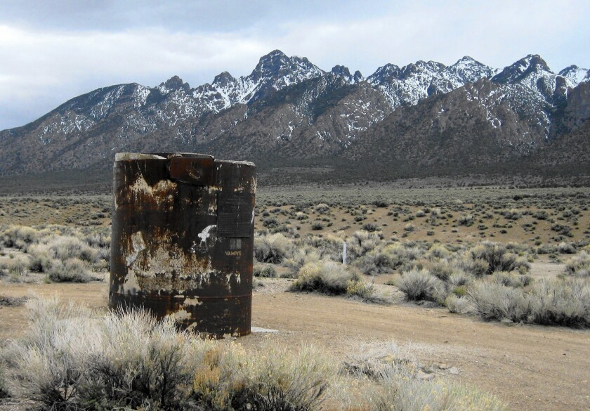 A steel well casing marks the site of a 1968 hydrogen bomb test in the old Central Nevada Test Area. Some military strategists, scientists and congressional leaders want the U.S. to develop a new generation of nuclear weapons.