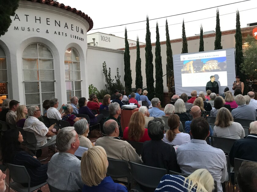 Flicks on the Bricks is an outdoor film series presented by Athenaeum Music & Arts Library in La Jolla.