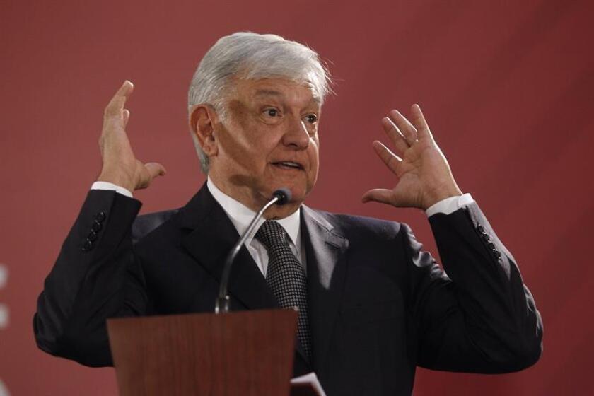 El presidente de México, Andrés Manuel López Obrador, ofrece una rueda de prensa: EFE