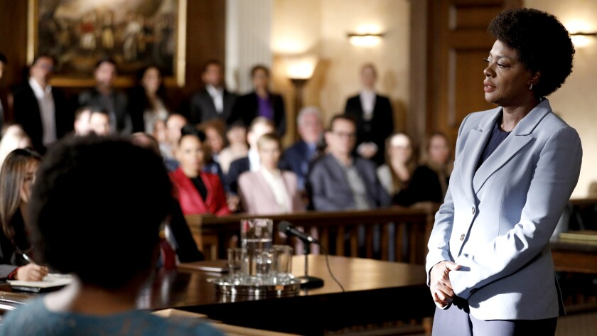 """Viola Davis in the series finale of the legal drama """"How to Get Away With Murder"""" on ABC."""
